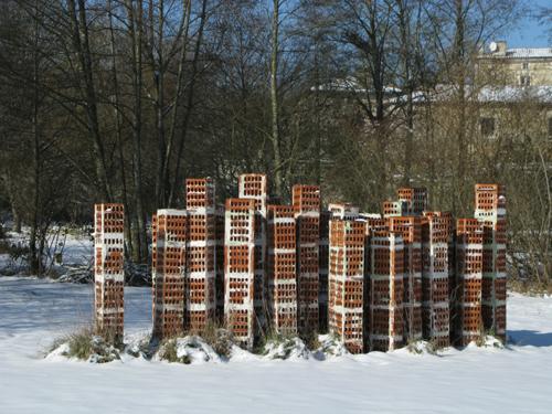 sous la neige 2012  Tour d d'immeuble  2009