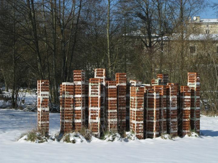 tour d'immeuble neige
